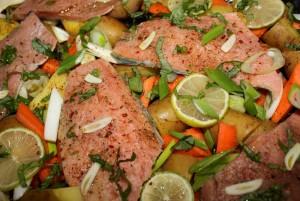 nutrifit Pečený losos na bramborách ve slupce 1